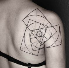 Geometric Spiral Tattoo Design by Okan Uckun