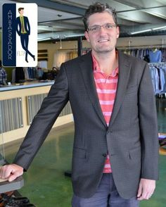 Meet Rob, a FLIP Ambassador! Rob recently came in & found this great Zegna sportcoat that fit him perfectly! Have fun wearing it & thanks Rob!