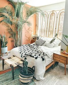 29 Modern Bohemian Bedroom Inspiration - It had become their early century when the Bohemian Design started. Bohemian Bedroom Design, Bedroom Inspo, Bedroom Inspiration, Bedroom Ideas, Bedroom Designs, Bohemian Bedding, Bohemian Bedroom Diy, Bedroom Styles, Dream Bedroom
