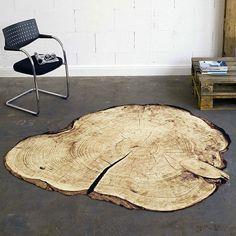 Velours Baumstamm Kontur Teppich braun 200 cm Durchmesser | 102004 Teppiche…