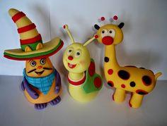 Fondan figurice (Fondant cake toppers): Baby TV figurice za torte - Gladni Henri, leptir i...