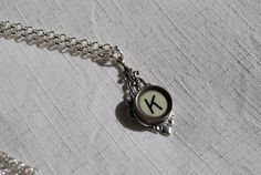 Typewriter Key Necklace Handmade Personalized Art by JustWearThese, $20.00