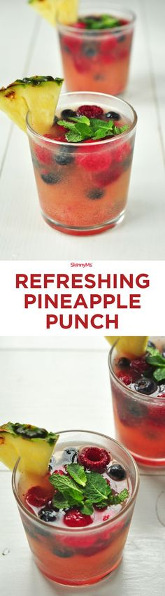 Refreshing Pineapple Punch | It's full of flavors and ingredients that you didn't even know you could put in a drink!