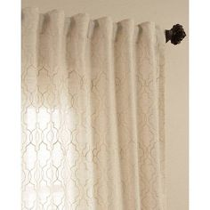 $46 Exclusive Fabrics Saida Embroidered Faux Linen Sheer Curtain Panel
