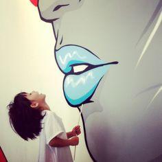 Wall art at new coff