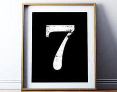 Printable Number Scandinavian Nursery Number Seven by printabold