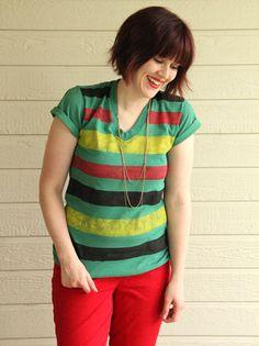 DIY: Easy Striped Shirt by Lazy Saturdays