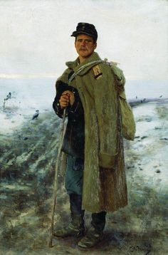 To his homeland. The hero of the last war - Ilya Repin