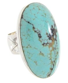 Southwest Silver And Turquoise Jewelry Ring Size 6 YS61729