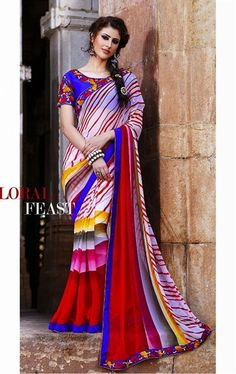 Lovely Multi Color Saree