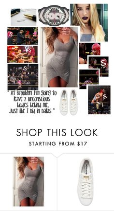 """""""🌹 Shella 🌹 NXT ⚫️ Contract signing with Asuka and Bayley"""" by queenofwrestling ❤ liked on Polyvore featuring WWE and adidas Originals"""