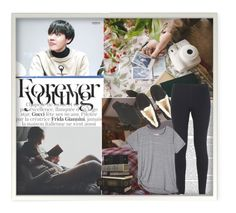 """Evening Reading w/ Hoseok"" by k-pop-things-and-such ❤ liked on Polyvore featuring UGG Australia, Sonoma life + style and NIKE"
