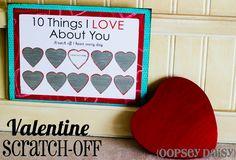 Valentine scratch-off card
