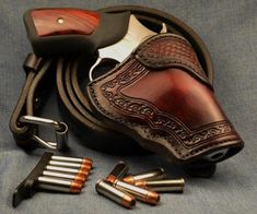 custom concealed carry holsters from Jeffrey Custom Leather Find our speedloader… Concealed Carry Holsters, Concealment Holsters, Custom Revolver, Pistol Holster, 1911 Pistol, Custom Leather Holsters, Leather Projects, Leather Crafts, Plein Air