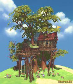 The above hideout tree (3D), Maarten Hof on ArtStation at https://www.artstation.com/artwork/the-above-hideout-tree-f8a116ac-1b9c-45f1-85af-43d227177750