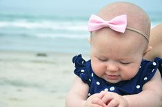 Pick a Set: Infant Headbands Fabric Baby Bow Baby Shower