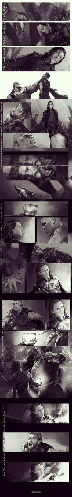 Oh my gosh! I wonder who's drawing these? I wonder if the artist is part of the set and this is an insight into what's going to happen. This makes me so sad and so scared for Loki.LOOOOKIIIIIIIIIIII*O*AAAAAAAHAAHAAAAAAAAAA‼️