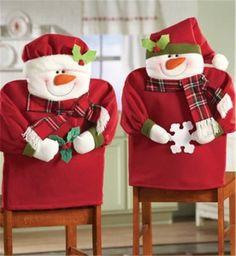2013 Christmas chair cover set, Christmas scarf snowman chair cover, Christmas…