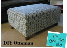 DIY Ottoman (Featured on Tiny House Nation!) - The Style Files Crate Ottoman, Diy Storage Ottoman, Ottoman Decor, Diy Ottoman, Upholstered Ottoman, Leather Ottoman, Square Ottoman, Diy Furniture Building, Wood