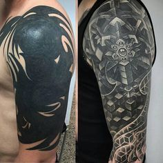 "Absolutely incredible ""Sacred Chaos"" cover-up by our inspiring friend @juan_salgado that has transformed and evolved during the last 10 months for this lucky #tattoo collector. As Juan says, ""Most times we're presented with obstacles that seem impossible to beat but there is always a way. Never underestimate patience and perseverance."" A great message and a beautiful tattoo! Viva la Creativity!"