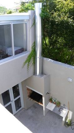 modern small house garden grill and inox sink Outdoor Decor, Balcony Decor, House Exterior, Small House Garden, Exterior Design, New Homes, Small House, Exterior, Patio Interior