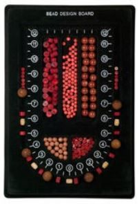 Single Strand Bead Board: Flocked to minimize beads' movement, that black background brings out the beads true colors making color matching a breeze.   #diyjewelry #beading #diyjewerlymaking