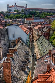 HDR of the Bastion street in Bratislava, Slovakia Travel Around The World, Around The Worlds, Danube River Cruise, Bratislava Slovakia, Heart Of Europe, Central Europe, Eastern Europe, Austria, Countries Of The World
