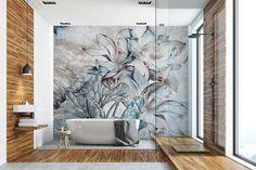 Dream Home Design, My Dream Home, Boho Bathroom, Wooden Bathroom, White Bathroom, Unique Wallpaper, Design Case, Diy Wall Art, Bathroom Interior Design