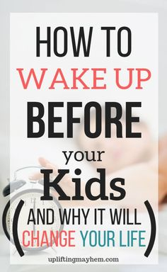 How to Wake up BEFORE Your Kids (and Why it will Change Your Life!) How to wake up before your kids and why it will change your life! Discover why it's good for you and tips to help you do it! Gentle Parenting, Parenting Advice, Kids And Parenting, Parenting Styles, Foster Parenting, Practical Parenting, Mindful Parenting, Peaceful Parenting, Mom Advice