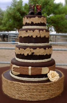 Country/western wedding cake