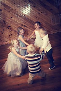 If the greatest blessing of marriage is children, then you can't have a good reception without plenty of little revelers giggling in the wings :)