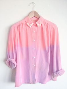 Ombre pink and purple with pearls! A Spring must-have for the girly girl.