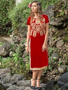 Cockqtail Red Party Wear Kurti