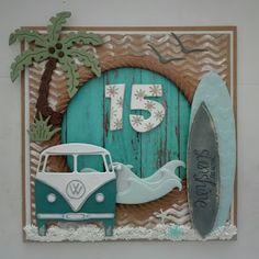 Made by Nicolette: Dylan 15 jaar Hobbies And Crafts, Diy And Crafts, Paper Crafts, Cool Cards, Diy Cards, Handmade Birthday Cards, Handmade Cards, Square Card, Marianne Design
