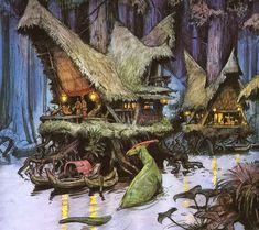 The imaginative world of Dinotopia by artist and author James Gurney