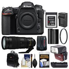 WANT:  Nikon D500 Wi Fi 4K Digital SLR Camera Body with 200