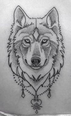 Resultado de imagen para wolf tattoo traditional sketch
