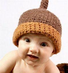 Baby Acorn Crochet Hat $21
