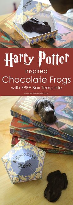 These Harry Potter inspired chocolate frogs with boxes to match are so easy to make and add a fantastic touch to any Harry Potter party, event, or just a theme lunchbox snack!