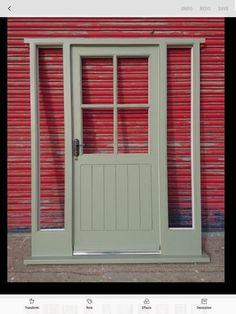 Wooden Hardwood Front Door + Sidelights Cottage Style Made to measure! Wooden Front Door Design, Front Porch Design, Wooden Front Doors, Gray Front Doors, Porch Designs Uk, Cottage Entryway, Cottage Door, Welsh Cottage, Scandinavian Front Doors