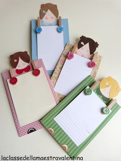 Another idea for a note pad holder for mom  La classe della maestra Valentina: festa della mamma