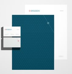 looove double sided letterheads  B'seen Visual Identity by Robinsson Cravents, via Behance