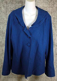 Pendleton Blue Wool Blazer Jacket Womens Size Large