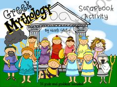 Greek Gods and Goddesses Scrapbook Activity  from Mrs Shelbys 4th Grade on TeachersNotebook.com (34 pages)