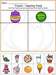 Nutrition / Food Choices: Healthy & Unhealthy / Good & Bad Cut ...