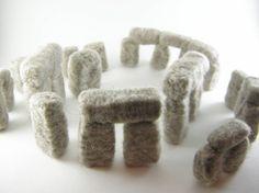 mini fiber art stonehenge!