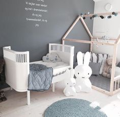 Gender nuetral gray nursery Kids rooms decor | Nursery decor | www.ivycabin.com