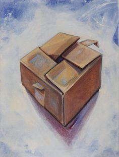 """""""Scatola piena"""" 2009, olio su tela, cm 18 x 13"""