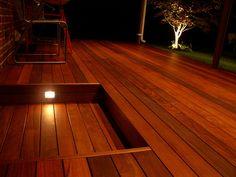 Lights in deck steps