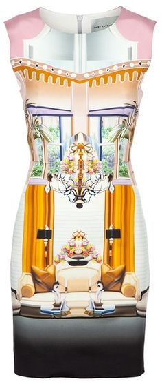 Mary Katrantzou dress. Love love her. Her digital prints and architectural dresses are just magical pieces of art
